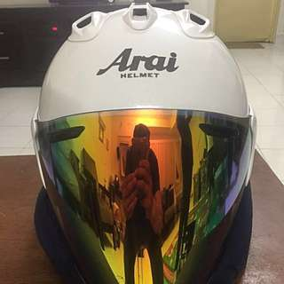 Arai Ram5 Pearl White Crystal. Size L 59.60cm. Condition like new. Padding Anti-bacteria from Arai.