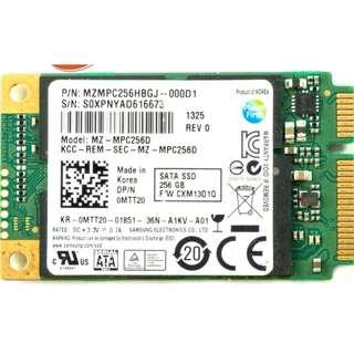 SAMSUNG 256GB MSATA PCI-E MINI SATA III SATA3 SOLID STATE DRIVE