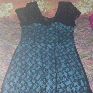 Branded lace party dress