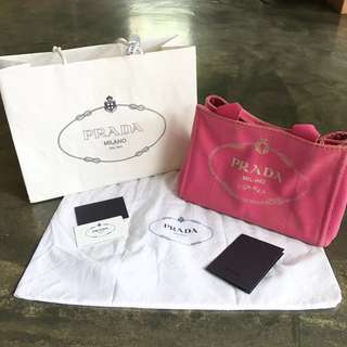 Authentic Prada Canapa Tote