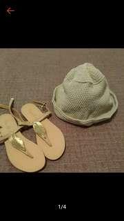 正韓 夏日必備 針織 編織 遮陽帽 近全新
