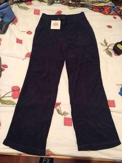 Juicy Couture pant dark blue毛巾布質地長褲