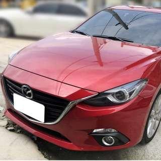 【購車無負擔‧買車夠保障】MAZDA 2016年 MAZDA 3 5D 頂級版 2.0紅 服務實在 值得信賴