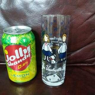 狗男女Eddy&Emmy The Vaudeville Duo(Sanrio)日本絕版1993年長形玻璃杯(罕有)