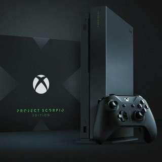 Xbox One X Project Scorpio Edition !