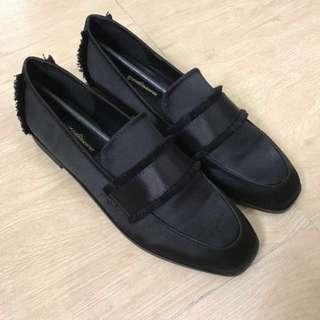 ZARA女裝黑色錶捐面鞋
