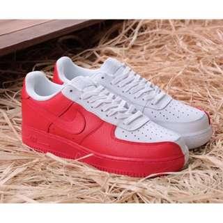 Nike耐克Air-Force 1 空軍壹號陰陽鞋紅白 AF1板鞋男女鞋低幫 905345-004