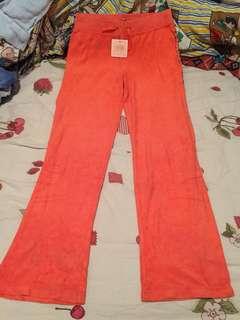 Juicy Couture pant sportswear orange 橙色毛巾布運動褲
