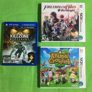 Games Bundle (Nintendo 3DS and PS Vita)