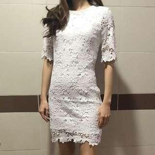 白色Lace連身裙