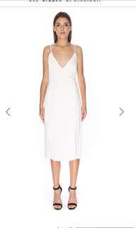 Keepsake White Wrap dress