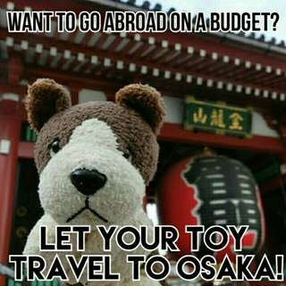 Let your stuffed toy travel with me! 🇯🇵