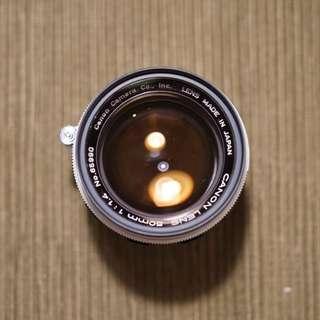 Canon 50mm F1.4 LTM M39 Film Lens Leica