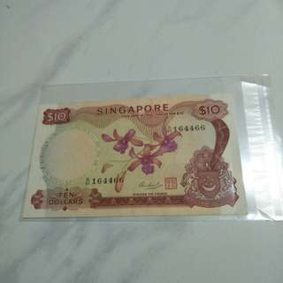 Old sg $10 notes