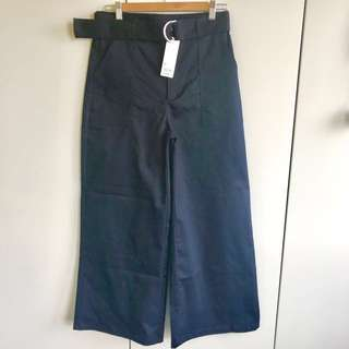 brand New GU trousers pants XL navy blue 闊腳長西褲