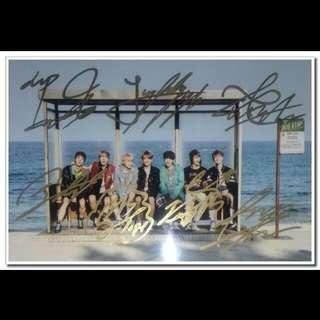 BTS亲笔签名照