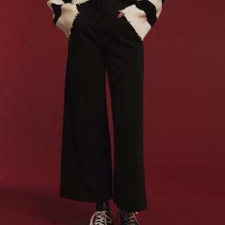 (全新)超顯瘦落地款寬褲