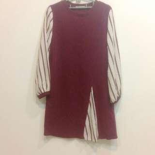🚚 韓國假兩件長版衣裙