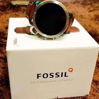 Fossil Gen 3 Smartwatch Q Explorist Luggage Leather