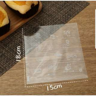 SALE! New Clear Assorted Dish Design Cookie Plastic Pouch 15cm