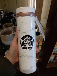 KR Starbucks 雲石白色保溫杯瓶