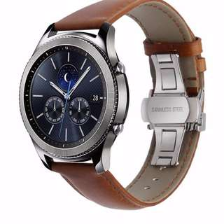 Samsung Gear S3 Strap (ITALIAN GENUINE LEATHER WATCHBAND QUICK RELEASE STRAP)