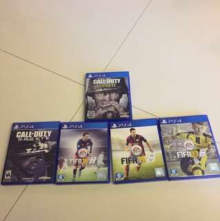 PS4 Games (See description box for prices)