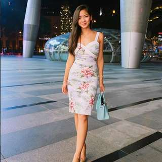 [PO] Summer Tropical Midi Dress