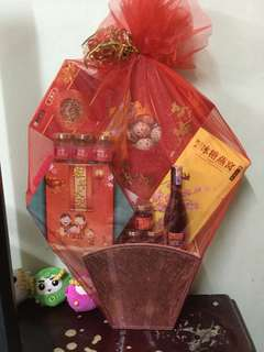 CNY Hamper - Cordy Herbs, Instant Bird's Nest, Red Fruit Wine, Essence of Chicken, Dried Mushrooms