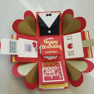 Happy Birthday Handmade Explosion Box Card