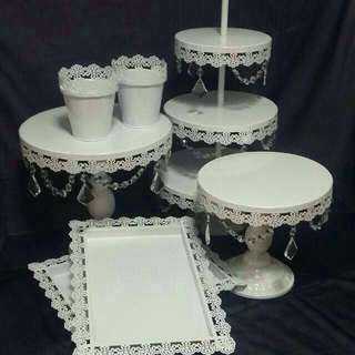 Cake Stands for rent ( reserved for 21st Mac )