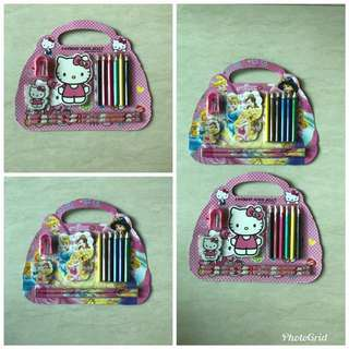 Stationery Set (5-In-1) Last 20 sets Princess and Hello Kitty