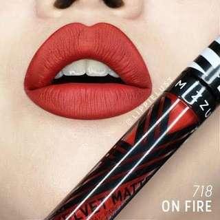 Mizzu Velvet Matte Lipcream - shade On Fire
