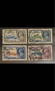 Straits settlement stamps king George coronation 4v set