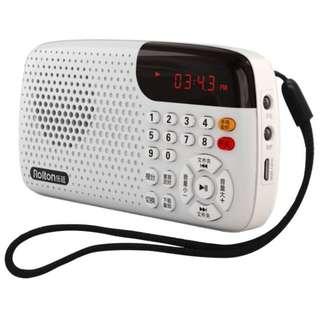 BNIB Rolton W105 (white) radio & MP3 player