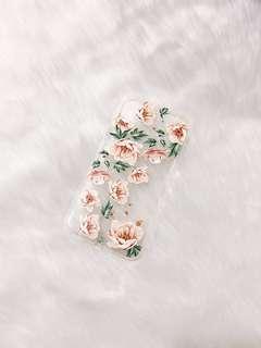 Iphone X case - Peach Florals