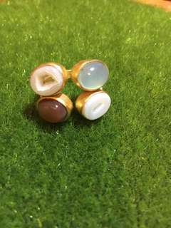 Affordable Chic: semi precious stones ring