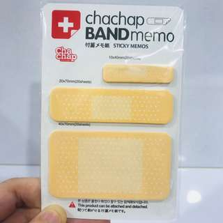 Chachap band memo sticky memos