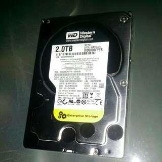 Wd 2tB hard disk..