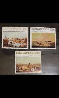 Singapore stamps art series 3v Mint (small surface faults)