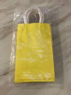 Yellow paper bag- goodies bag, party goody paper carrier