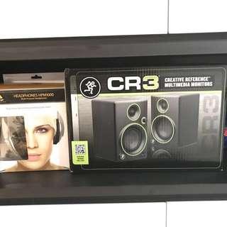 "Mackie CR3 Series CR3 - 3"" Creative Reference Multimedia Monitors (Pair) + Behringer HPM1000 Multi-Purpose Headphones"