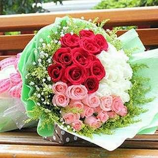Flower Bouquet∕Hand Bouquet∕Birthday Bouquet∕Anniversary Bouquet∕Proposal Bouquet - 3A21
