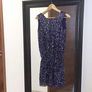 Mango sequined purple dress