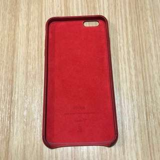 Apple iPhone 6/6s Plus Leather Case — (PRODUCT)RED
