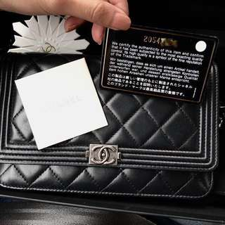 Authentic Chanel Wallet On Chain Boy (WOC)
