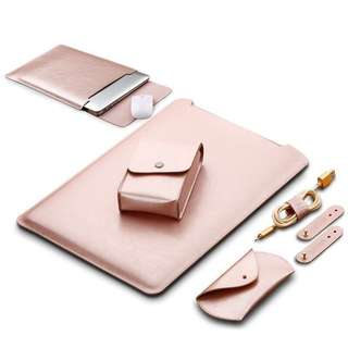Faux leather sleeve for macbook air 13
