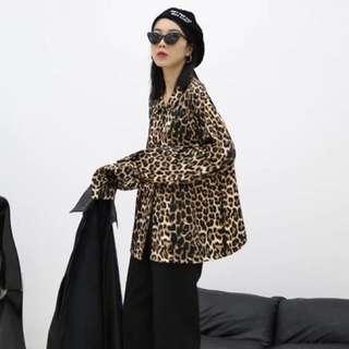 豹紋寬鬆上衣外套