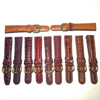 18mm 啡色真皮錶帶系列 Geniune Leather Watch Strap (Brown Colour Series)