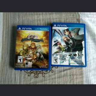 WTS PS Vita Tokyo Xanadu and Grand Kingdom (can trade for Ps4 games)